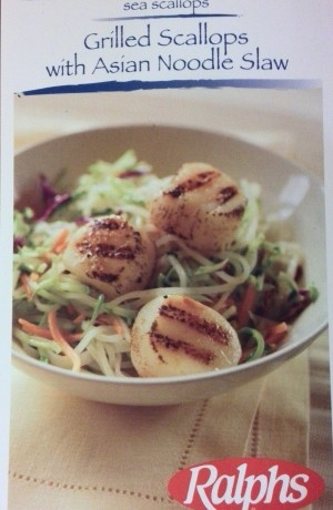 American Recipe: Grilled Scallops with Asian Noodle Slaw