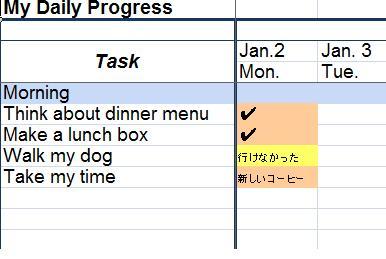 """忙しいあなたの毎日が幸せになる。進歩の手応えを味わうツール""""My Daily Progress""""作りました!"""