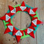 折り紙で簡単♪にぎやかサンタリースの作り方
