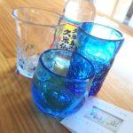 夕焼けと琉球グラスと沖縄ことば